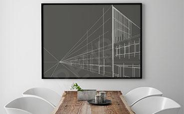 Minimalistyczny plakat architektura