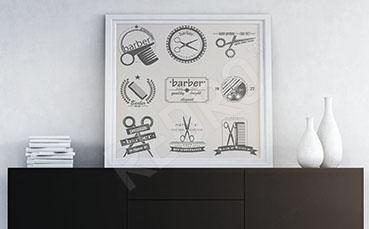 Minimalistyczny plakat barber