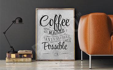 Minimalistyczny plakat do salonu