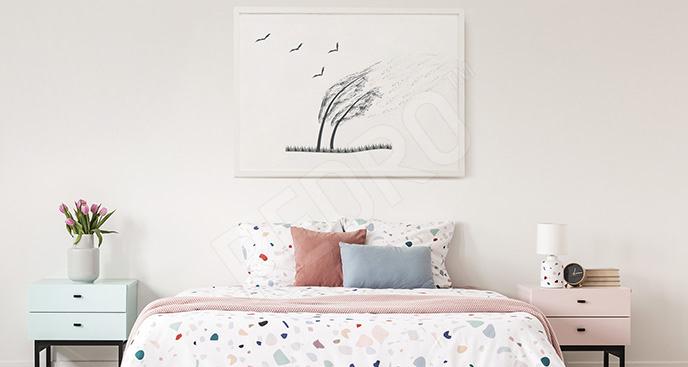 Minimalistyczny plakat jesień