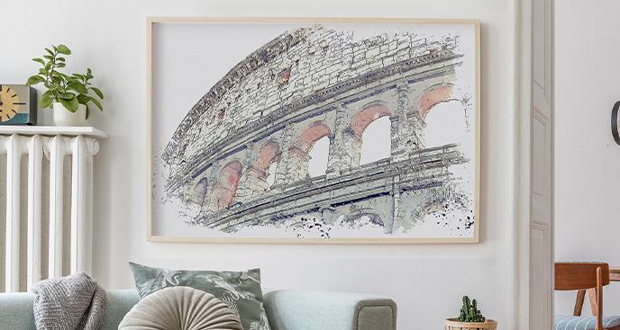 Minimalistyczny plakat Koloseum