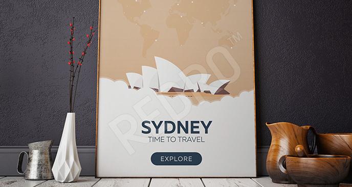 Minimalistyczny plakat Sydney