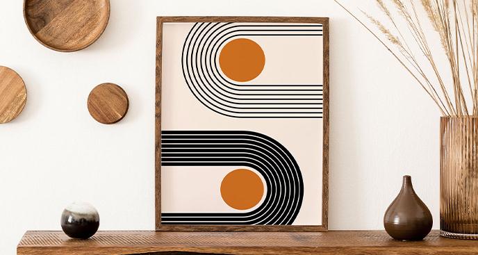 Minimalistyczny plakat z geometrią