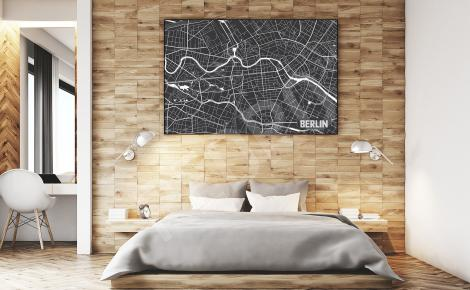 Minimalistyczny plakat z mapą Berlina