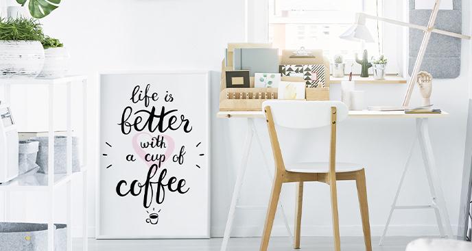 Minimalistyczny plakat z napisem