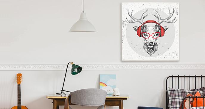 Młodzieżowy plakat z jeleniem