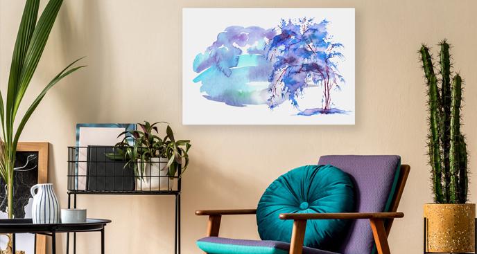 Modernistyczny obraz do salonu
