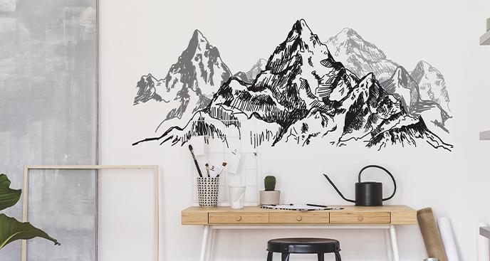 Monochromatyczna naklejka góry