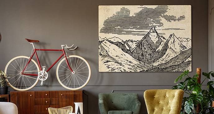Monochromatyczny obraz góry