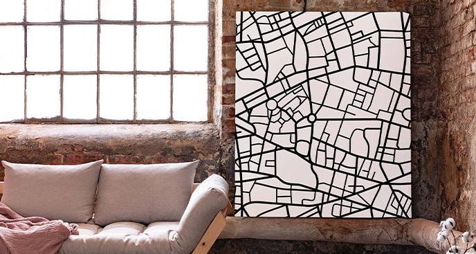 Monochromatyczny obraz miasta