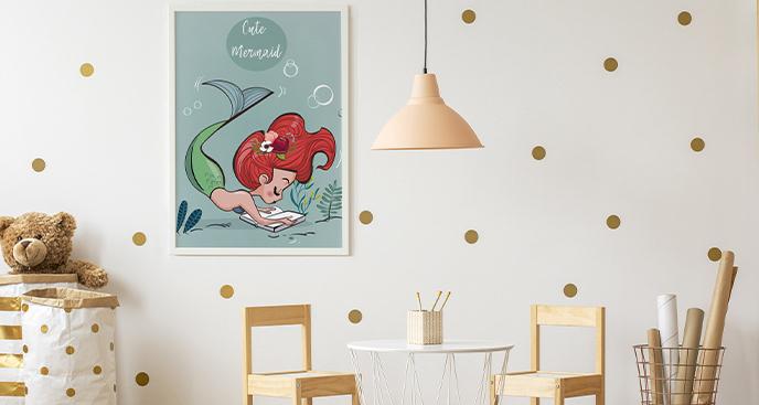 Morski plakat do pokoju dziecka
