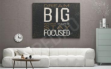 Motywacyjny obraz do salonu