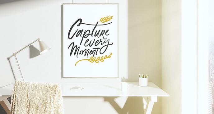 Motywujący plakat do salonu