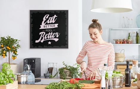 Motywujący plakat typografia