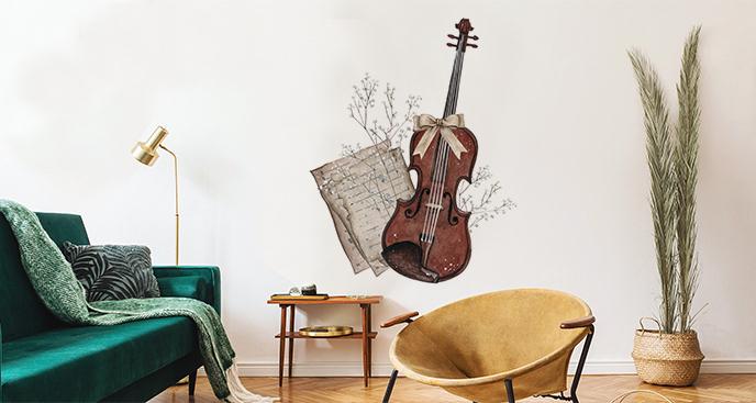 Muzyczna naklejka do salonu