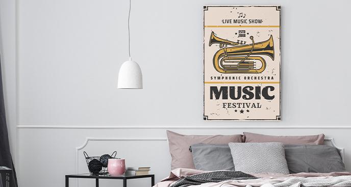 Muzyczny obraz w stylu retro