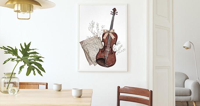 Muzyczny plakat do jadalni