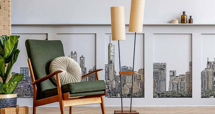 Naklejka architektura Chicago