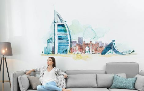 Naklejka architektura Dubaju
