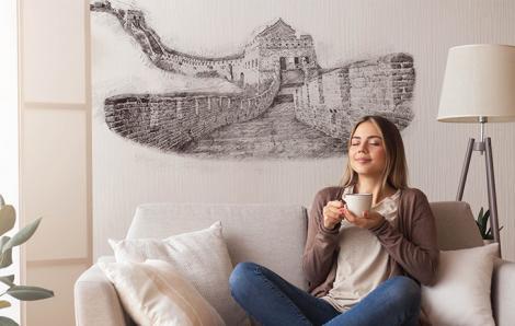 Naklejka architektura i Mur Chiński