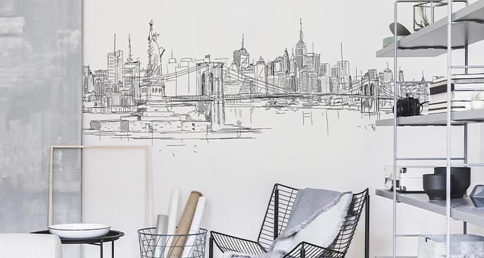 Naklejka architektura Nowego Jorku