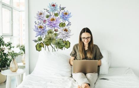 Naklejka azjatyckie kwiaty