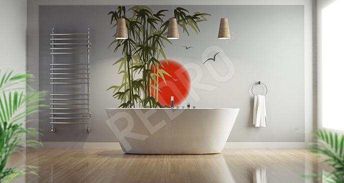 Naklejka bambus do łazienki