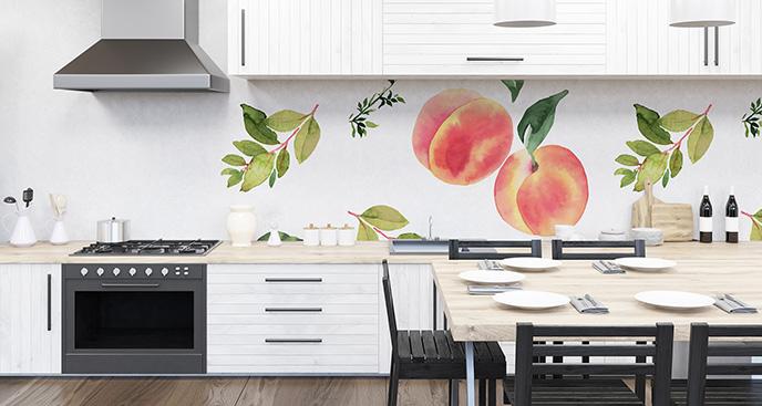 Naklejka brzoskwinie do kuchni