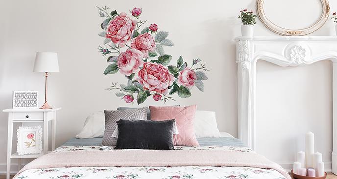 Naklejka bukiet angielskich róż