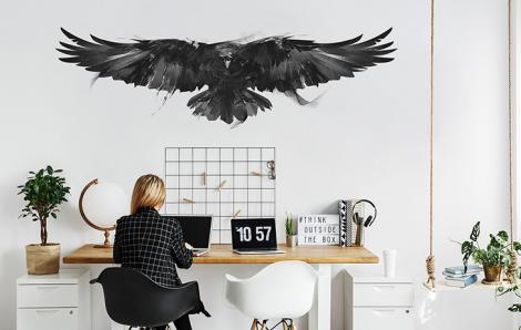 Naklejka czarny ptak