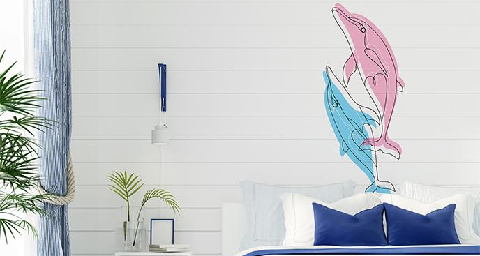 Naklejka delfiny do sypialni