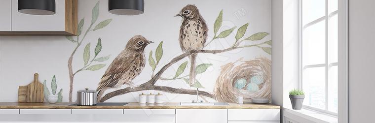 Naklejka do kuchni ptaki na gałęzi