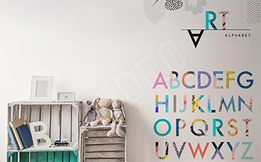 Naklejka do pokoju dziecka: alfabet