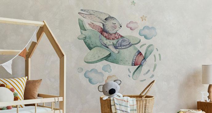 Naklejka do pokoju dziecka chmury