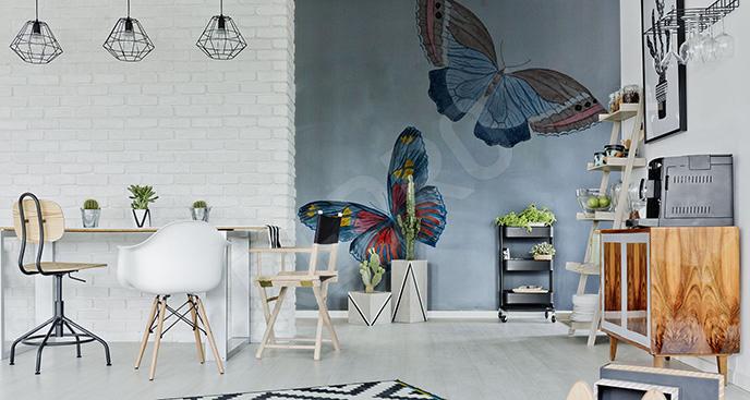 Naklejka do salonu dwa motyle