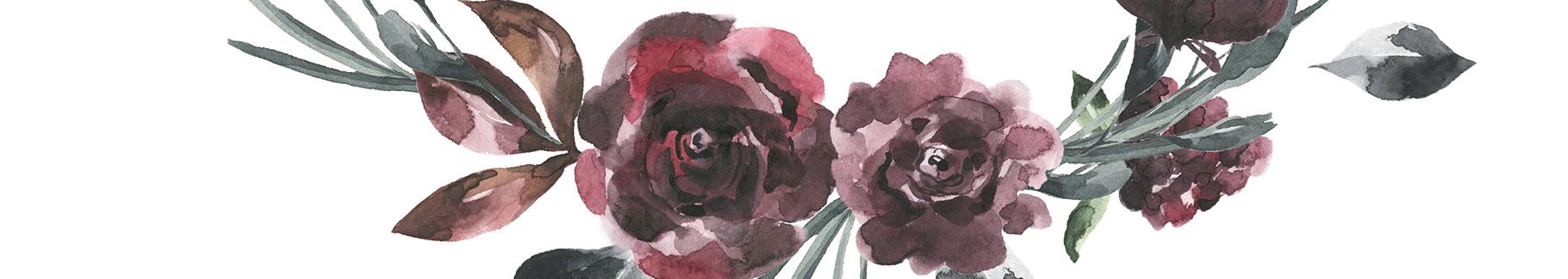 Naklejka do salonu w kwiaty