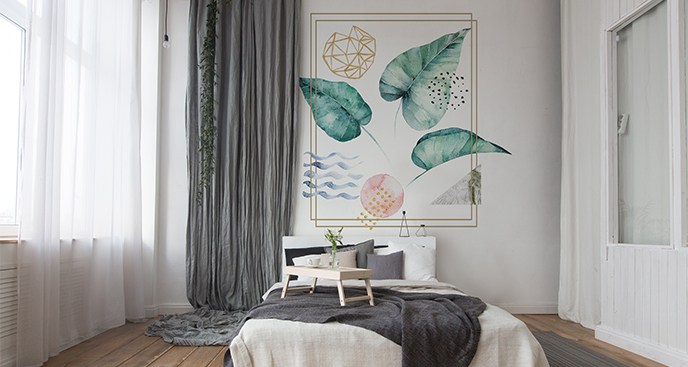 Naklejka do sypialni abstrakcja