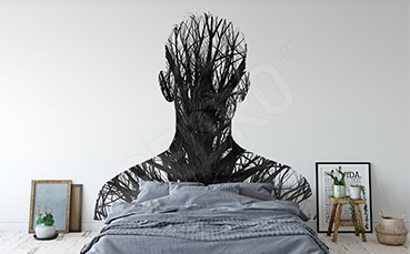 Naklejka do sypialni człowiek i drzewo