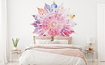 Naklejka do sypialni kolorowa mandala