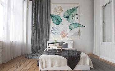 Naklejka do sypialni nowoczesna kompozycja