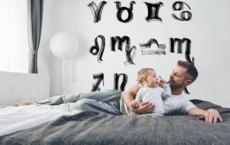 Naklejka do sypialni znaki zodiaków