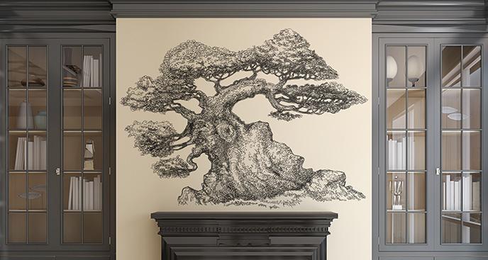 Naklejka drzewo w stylu klasycznym