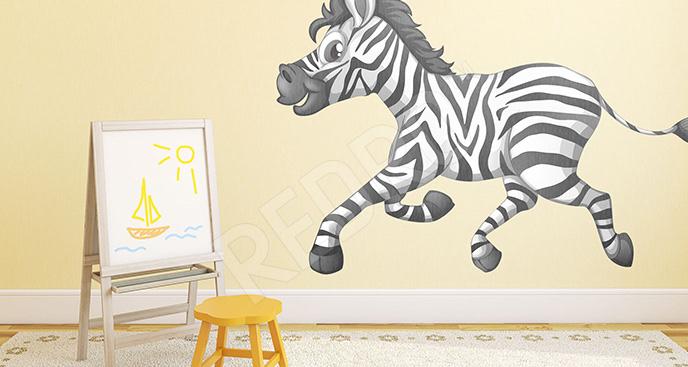 Naklejka dziecięca z zebrą