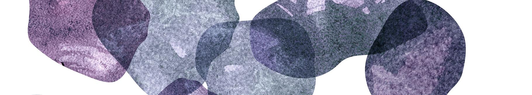 Naklejka fioletowe kamienie