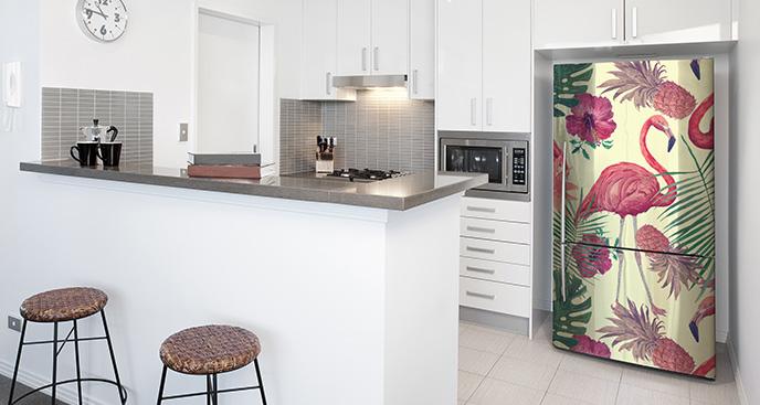 Naklejka flamingi do kuchni