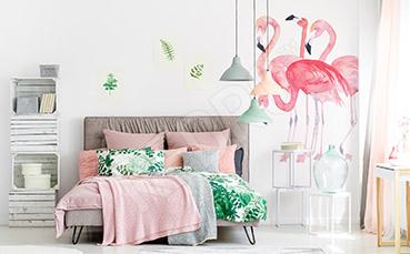 Naklejka flamingi do sypialni