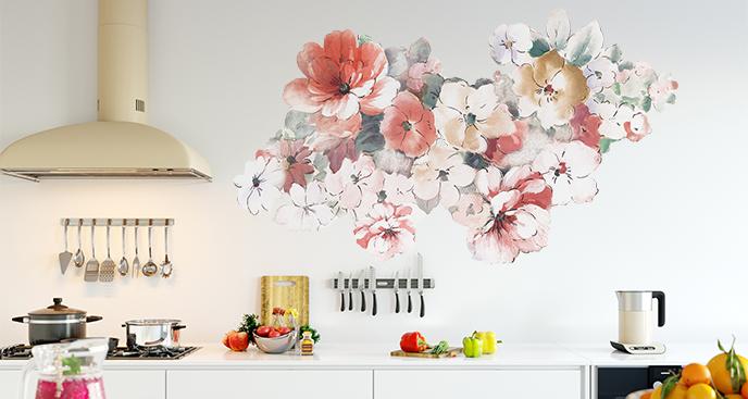 Naklejka floralna do kuchni