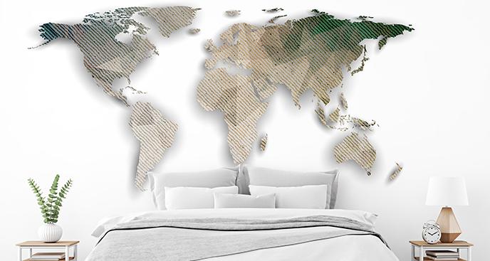 Naklejka geometryczna mapa świata