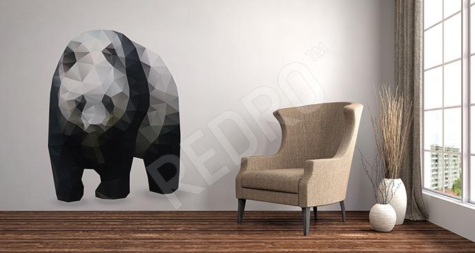 Naklejka geometryczna panda