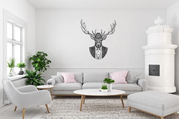 Naklejka - Głowa jelenia